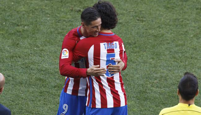 Tiago comes on for Torres against Osasuna