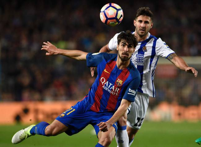 Barcelona's Portuguese midfielder Andre Gomes is a good player, going through a difficult time.