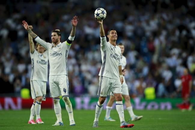 Hat-trick for Ronaldo and Madrid into the semi-finals