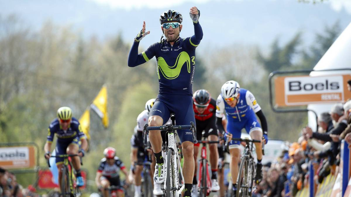 Valverde claims fourth straight Flèche Wallonne triumph
