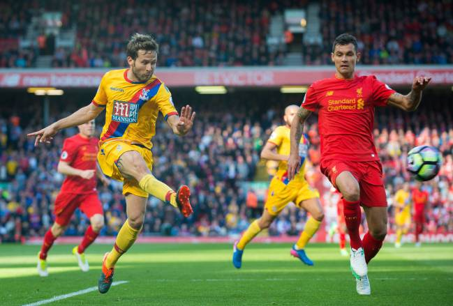Lovren in action against Crystal Palace last weekend.