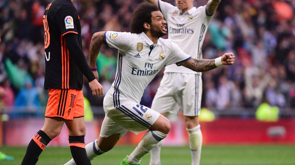 Real Madrid 2-1 Valencia: Match report, goals, action, Marcelo saves the day