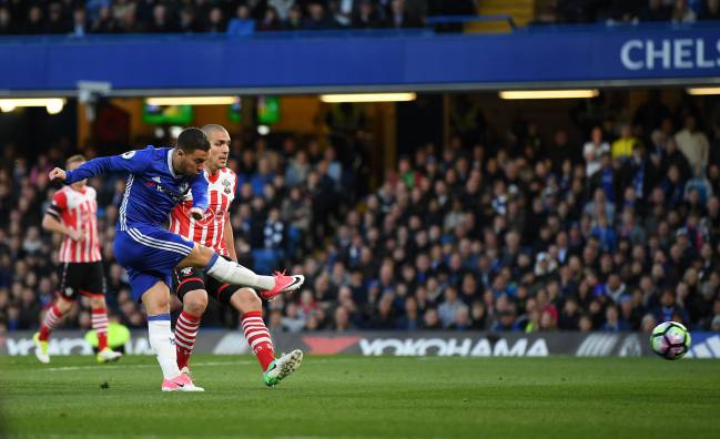 Eden Hazard finds the target against Southampton