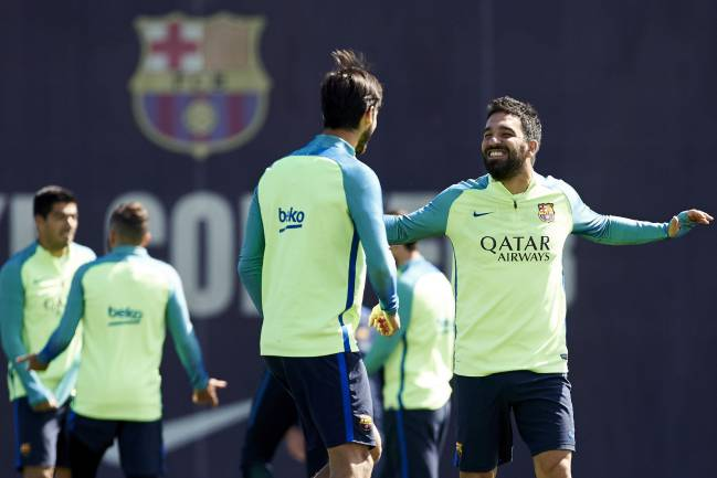 Arda Turan in training this week
