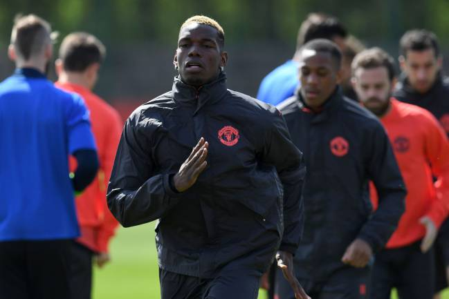 Paul Pogba, Eric Bailly, Phil Jones, and Chris Smalling trained on Wednesday to ease Mourinho's defensive woes ahead of Europa League semi-final.