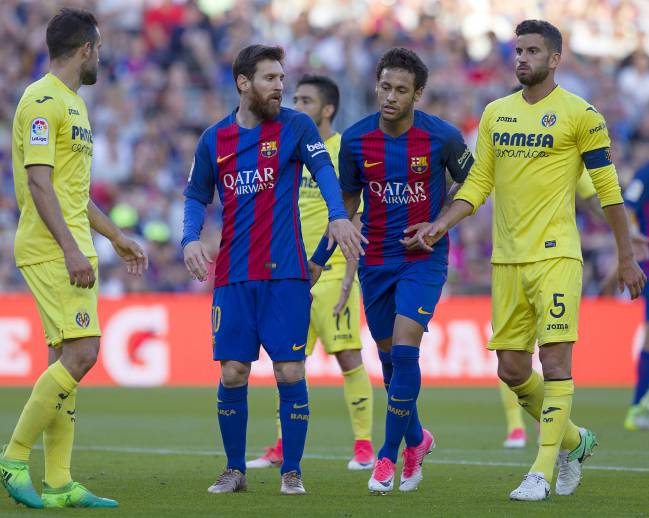 Messi and Neymar got the better of hard-working Villarreal side.