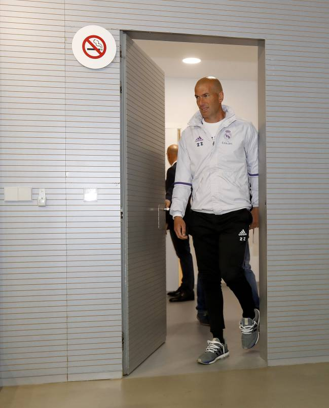 Zinedine Zidane during the press conference before the Granada game