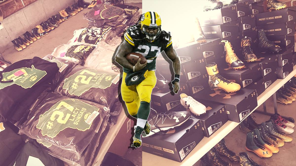 NFL: Former Packer Eddie Lacy has Garage Sale with proceeds going to charity