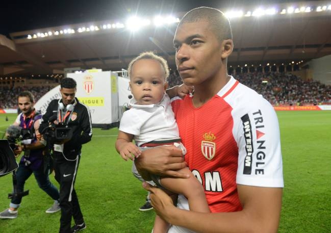 Young and younger | Monaco's Kylian Mbappe after winning Ligue 1 and now has a chance to shine on the international stage.