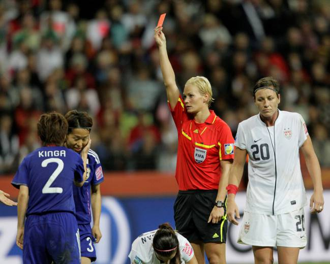 Bibiana Steinhaus pictured during the 2011 Women's World Cup finals in Germany.