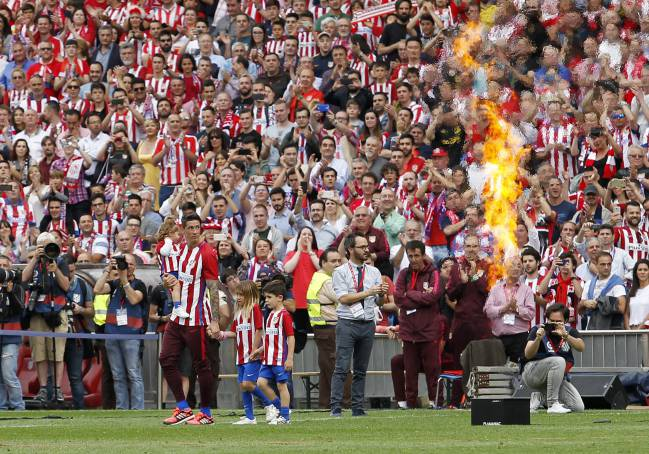 Fernando Torres at the Calderón for one last time.