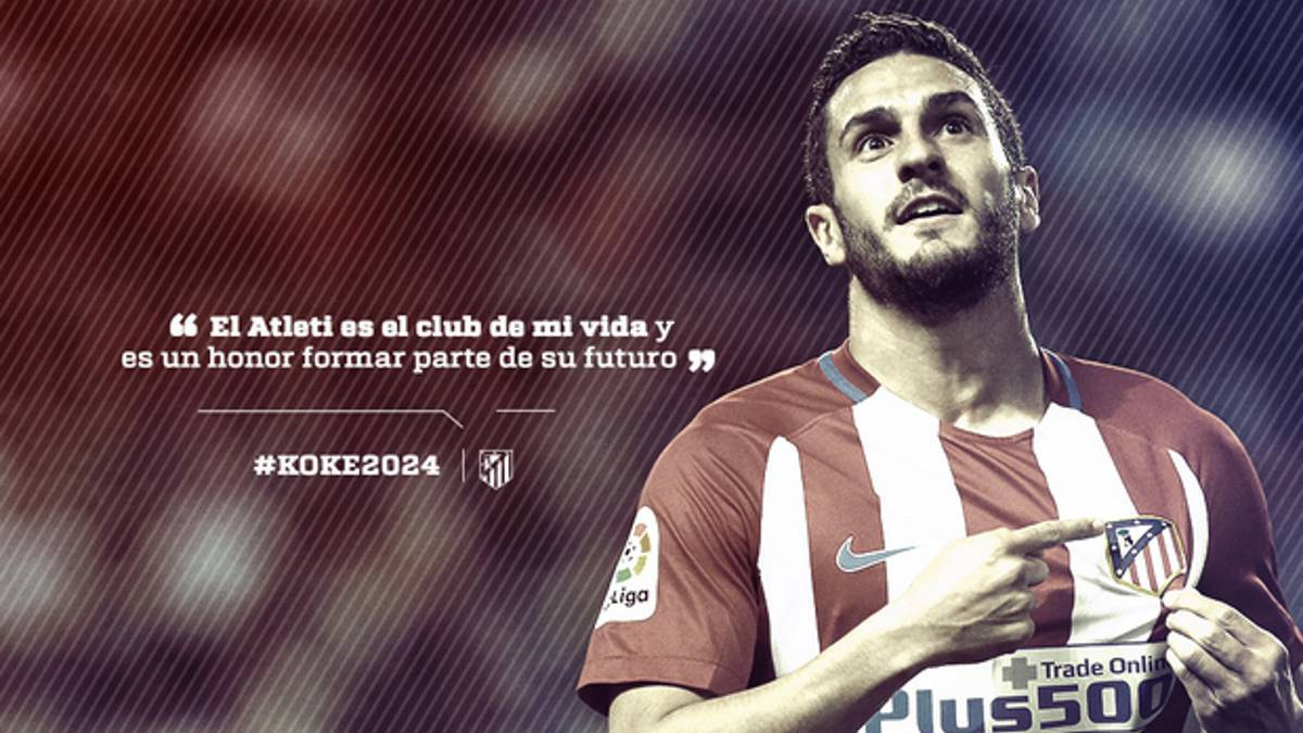 Koke extends Atlético Madrid contract to 2024