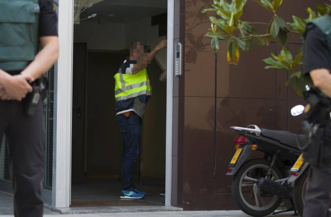Search at the home of Sandro Rosell on 23/05/17.