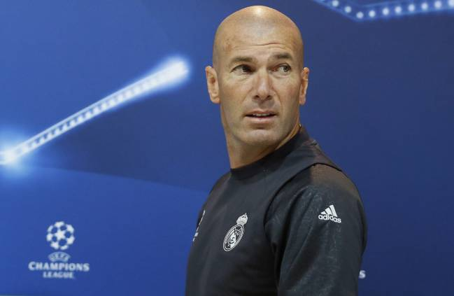Zinedine Zidane speaking to the media ahead of the Champions League final