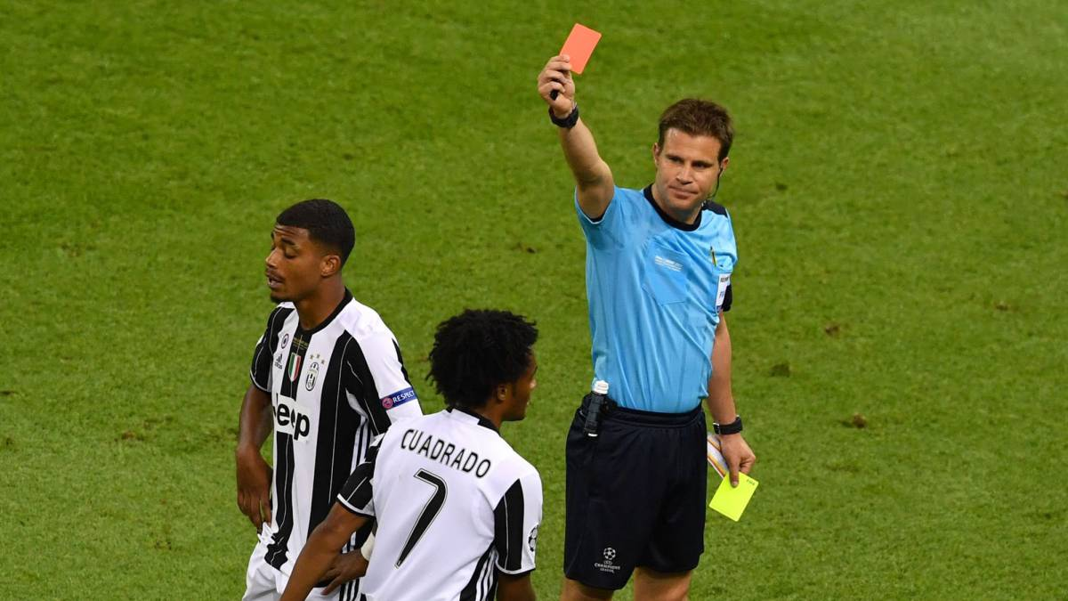 Juventus winger Juan Cuadrado was harshly sent off as Madrid claimed their 12th Champions League, with Sergio Ramos making the most of the contact.