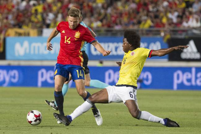 Asier Illarramendi makes his Spain debut against Colombia.