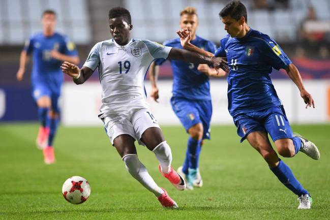 Liverpool's Sheyi Ojo changed the game as the Young Lions beat Italy in the semi-final, with goals from Solanke (2) and Lookman. Venezuela await.