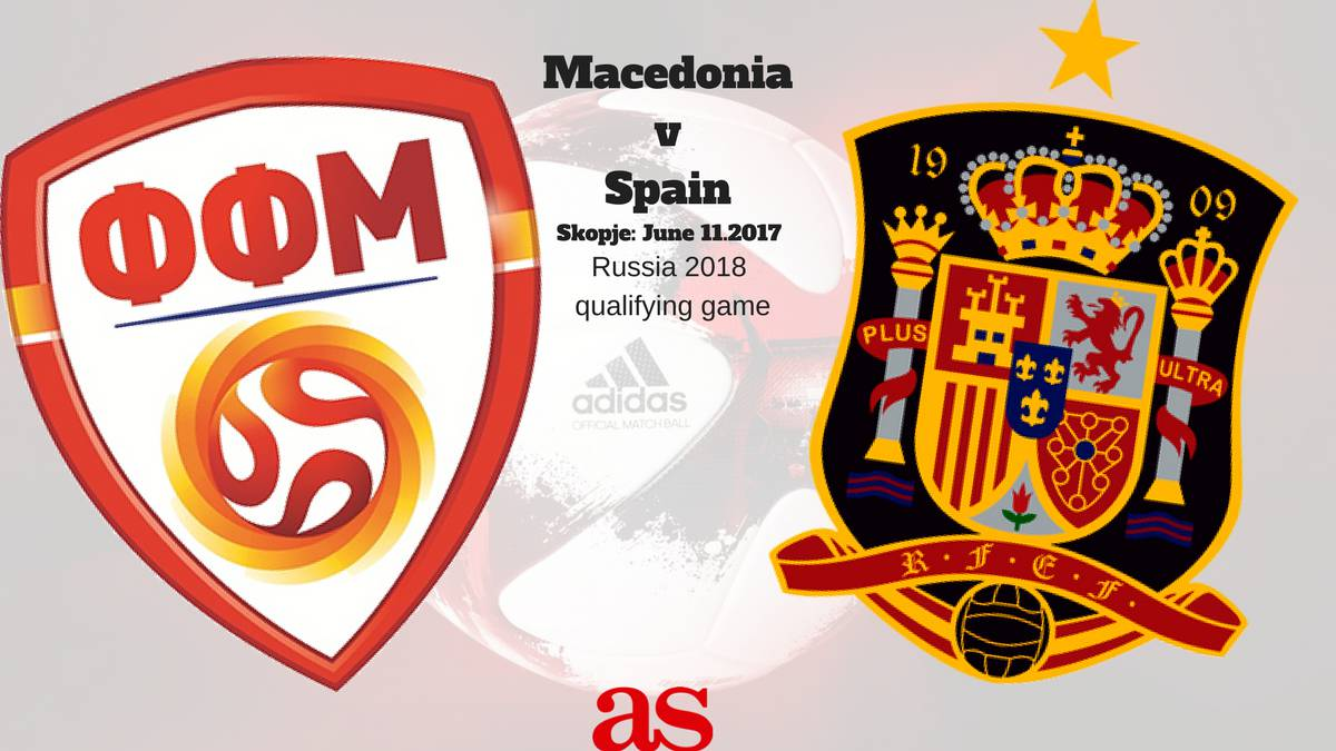 All the information you need on where and when to watch Macedonia v Spain from Skopje in Russia World Cup 2018 qualifying Group G on Sunday.