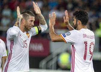 Spain hold on to beat Macedonia, stay top of Group G