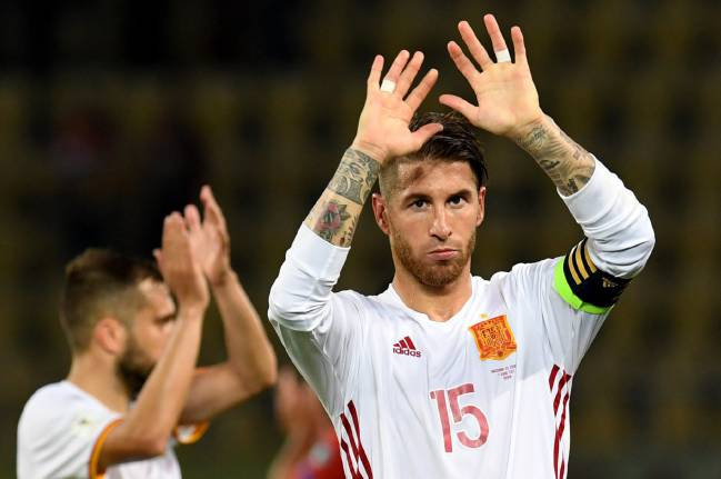 Sergio Ramos spoke following Spain's narrow 1-2 victory over Macedonia, with goals from Diego Costa and David Silva continuing the march to Russia.