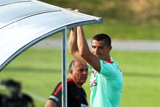 Cristiano Ronaldo has been away with Portugal on international duty.
