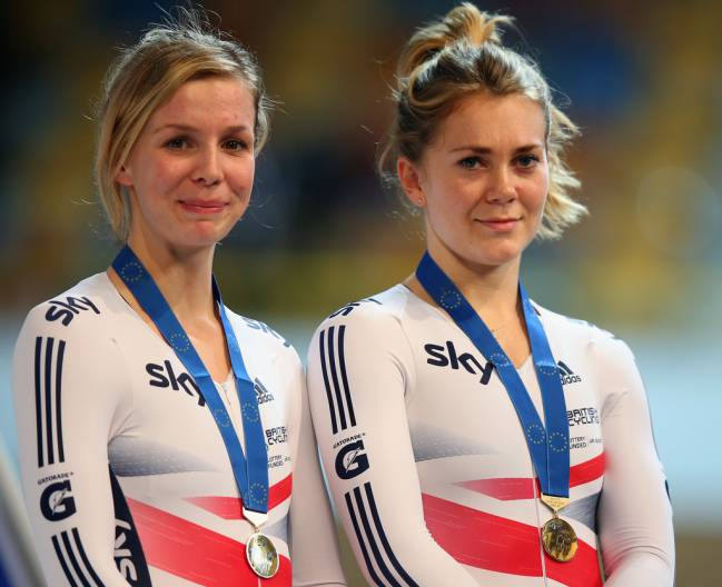 With medal, acceptable | Jess Varnish (R)