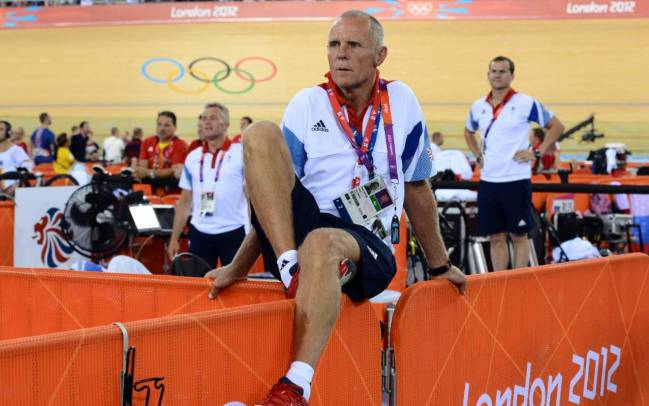 Shane Sutton at the London Olympics in 2012.