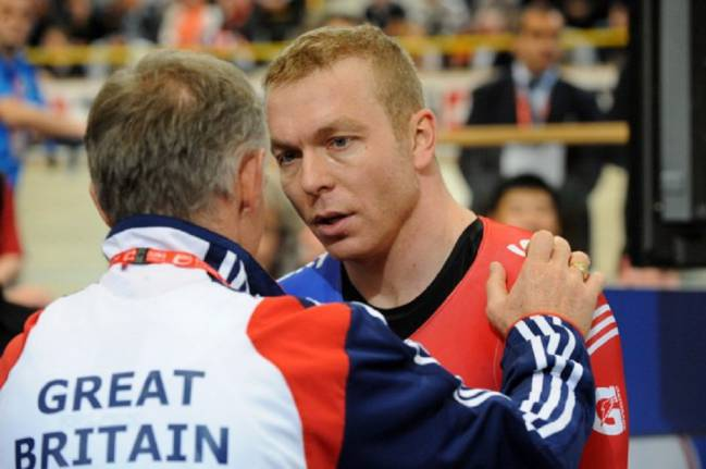 Sir Chris Hoy at the 2011 world track championships in Apeldoorn