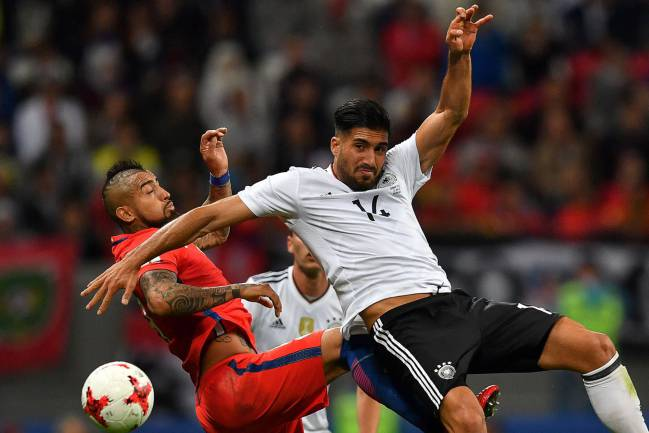 An Alexis Sanchez strike was written of by a Lars Stindl goal in the first half to ensure the two favourites for Group B finished with a point apiece in Kazan.
