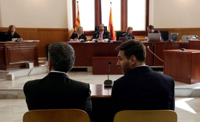Barcelona's football star Lionel Messi and his father Jorge Horacio Messi will be hoping to see the back of this tax fraud case.