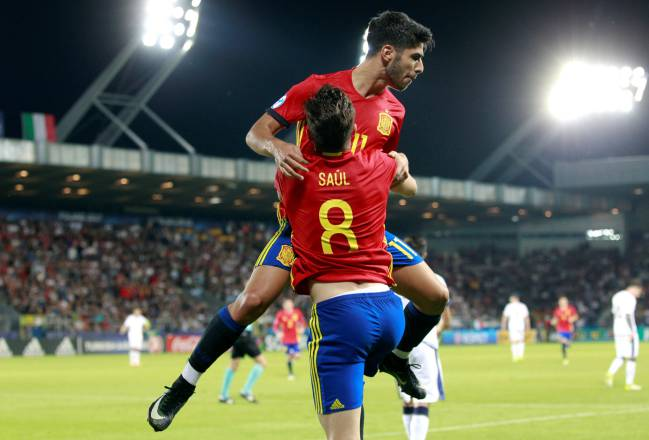 Spain's Saul Niguez and Marcos Asensio have shone alongside several others in La Rojita's side.