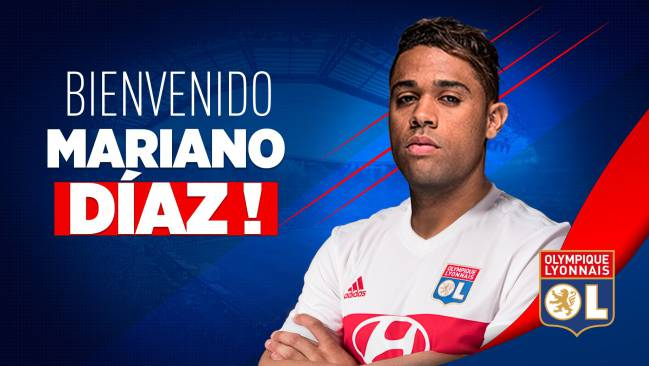 Mariano announced on Lyon's Twitter account.
