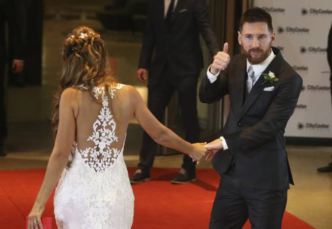 Lionel Messi wedding | Barcelona star Lionel Messi married Antonella Roccuzzo on Friday evening in their home city of Rosario, Argentina.