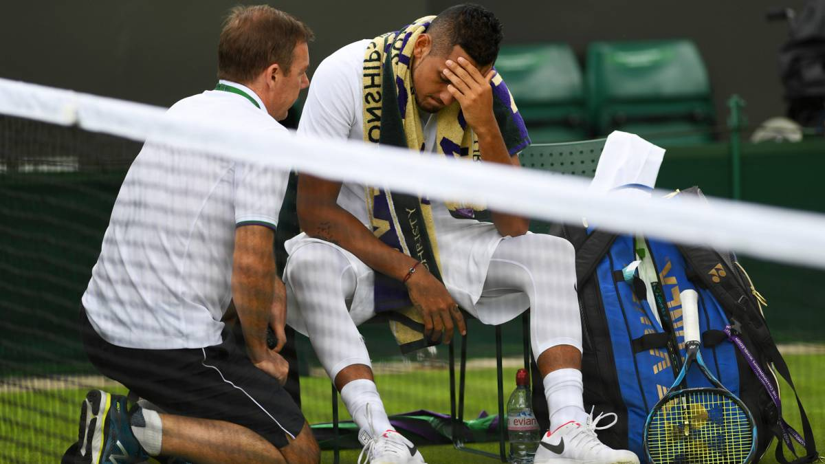"Kyrgios admits ""fitness issues"" caused early Wimbledon exit"