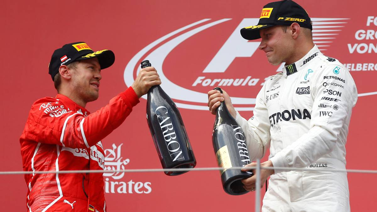 Bottas beats Vettel, Hamilton comes home fourth in Spielberg