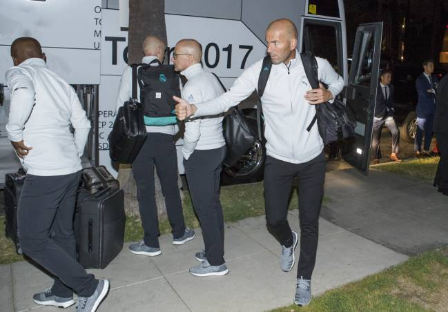Real Madrid arrive in Los Angeles