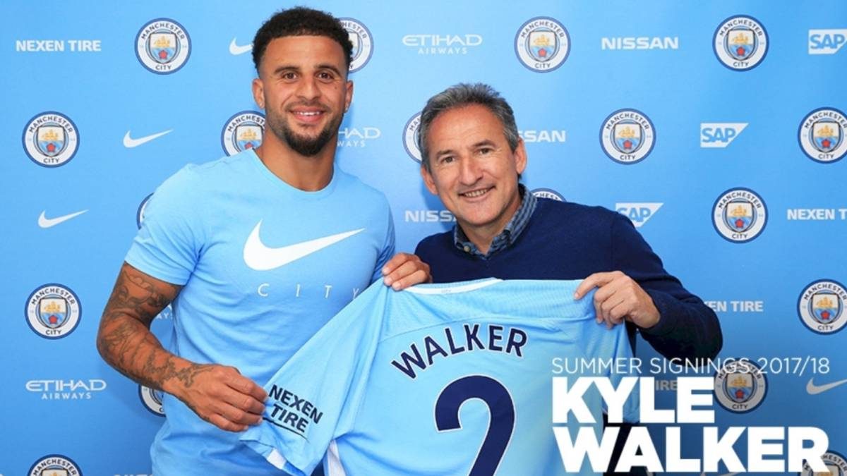 Manchester City switch thrills record signing Kyle Walker
