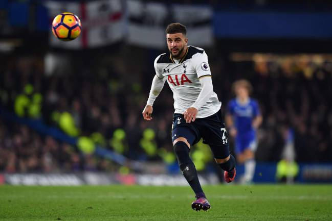 Kyle Walker in action for Tottenham last season