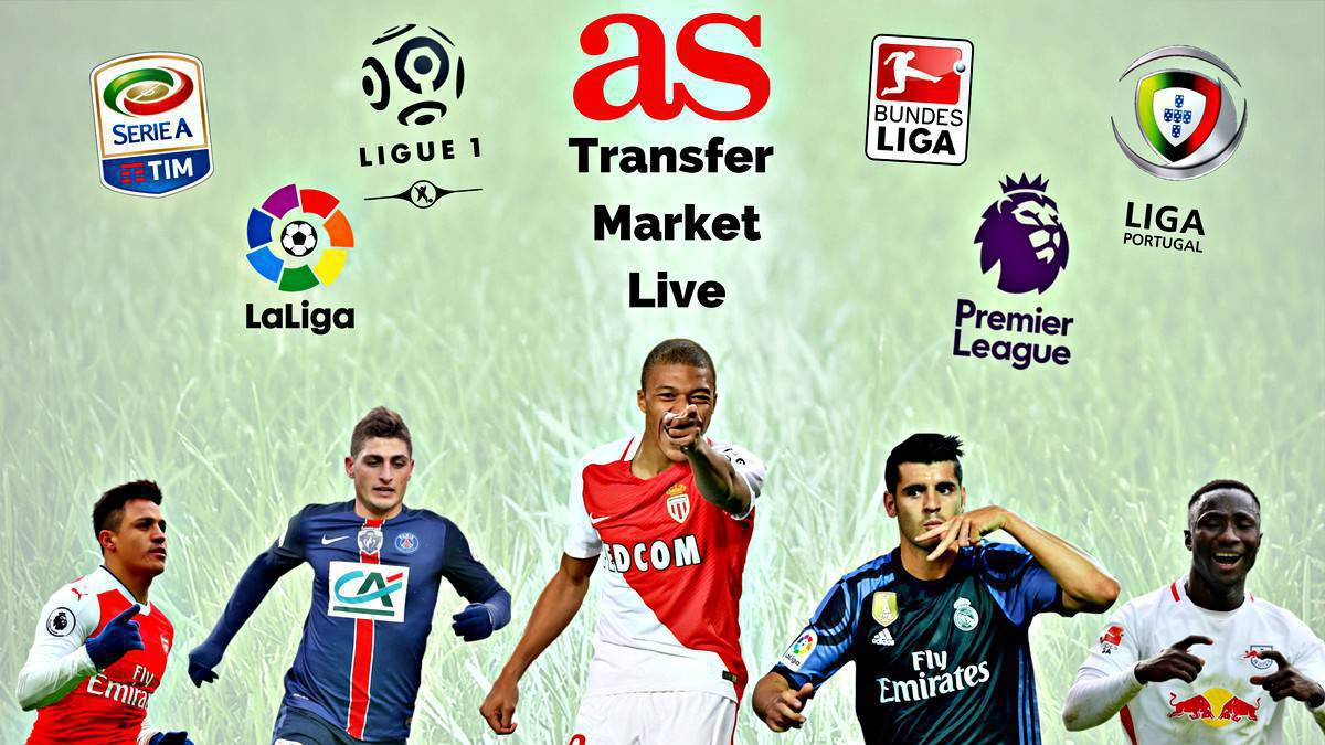 Transfer market live online: Monday 17 July 2017