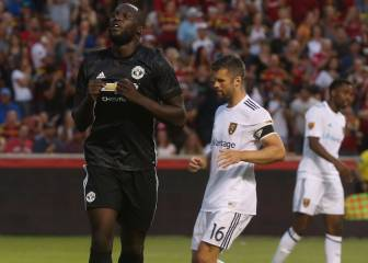 Lukaku gets off the mark for Manchester United in Utah