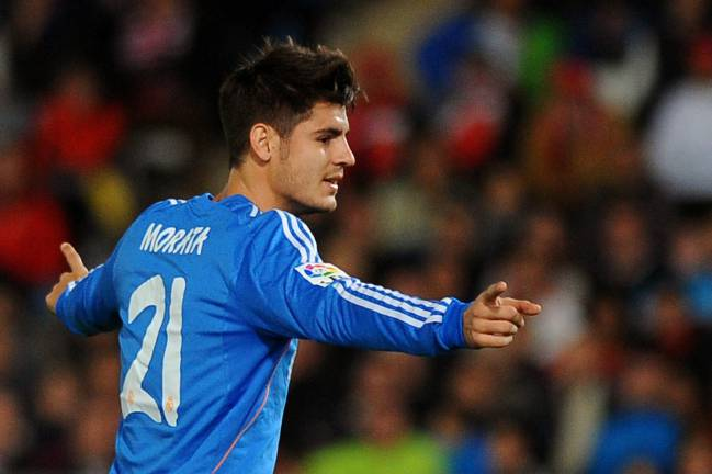 That Real Madrid away kit in 2013 was a sign of Alvaro Morata's future.