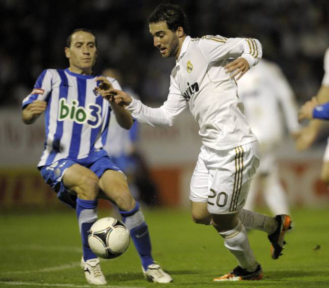 Real Madrid's Argentinian forward Gonzalo Higuain back in 2011.