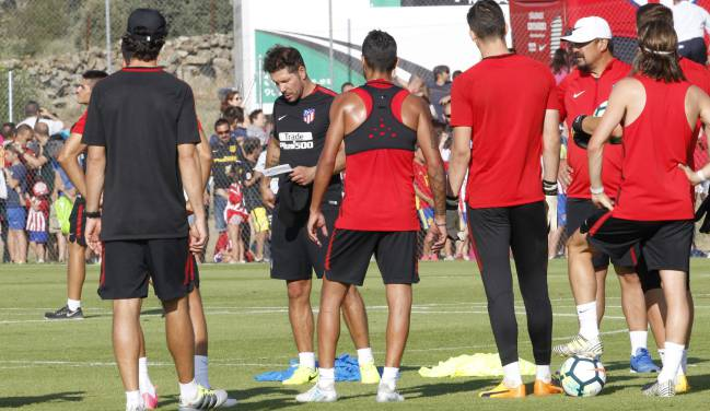 Atleti training in Los Ángeles de San Rafael today.