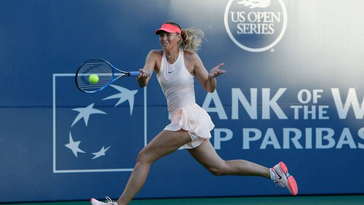 Sharapova battles through in first US match for two years
