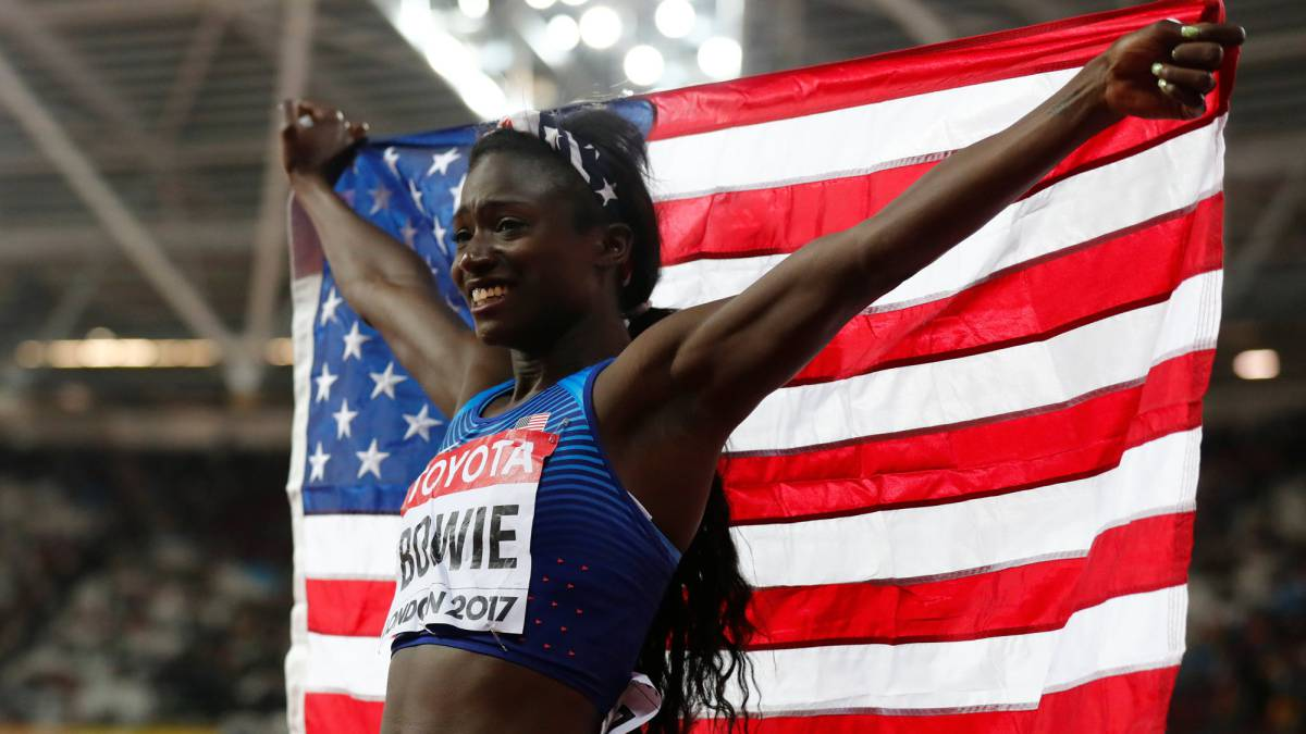 Tori Bowie, long-jumper turned speed queen, eyes sprint double