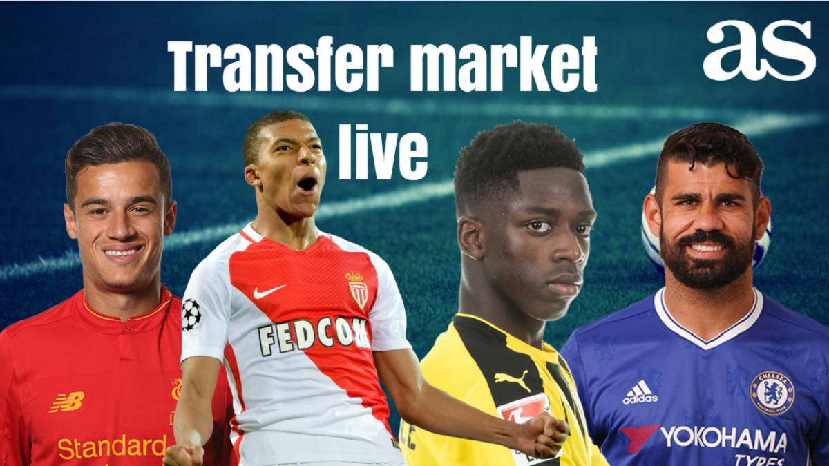 Transfer market live online: Wednesday 9 August 2017