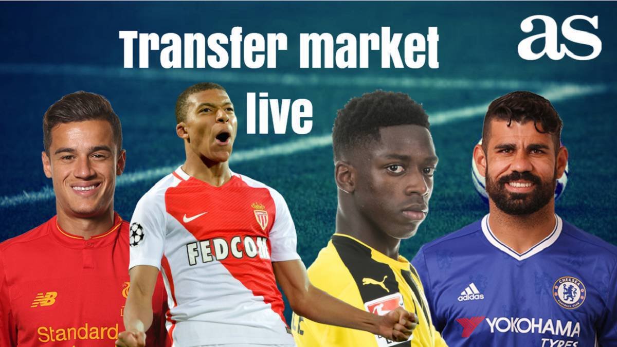Transfer market live online: Wednesday 16 August 2017
