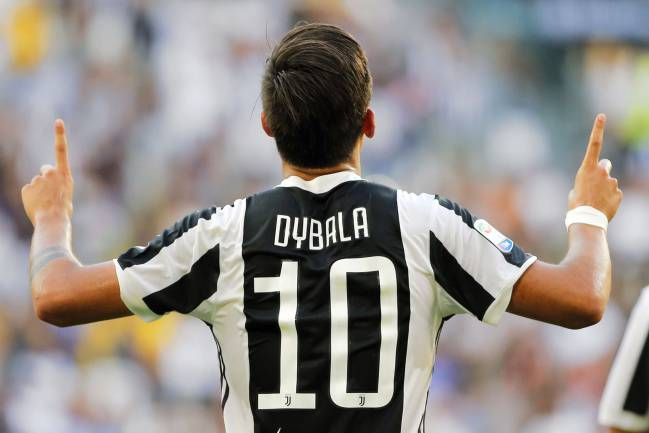 Juventus' Argentinian forward Paulo Dybala with another goal.