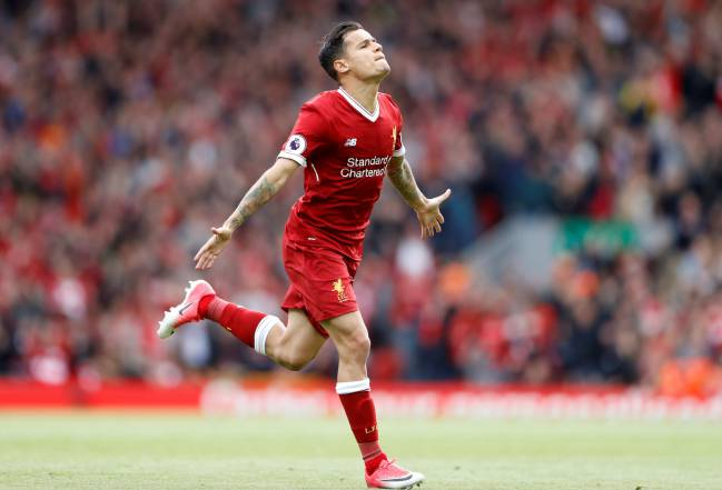Liverpool's Philippe Coutinho celebrates last season. Fans will be hoping to see this again soon.