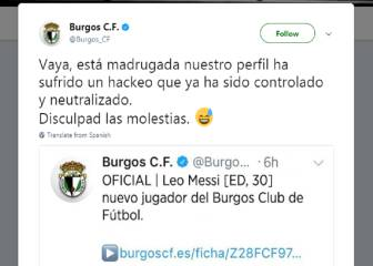 Lower-league Burgos mock Barça hack with Messi announcement